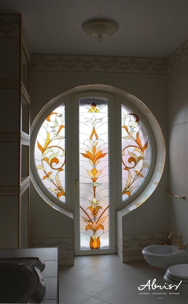 Балкон - витражная роспись в красноярске abris.